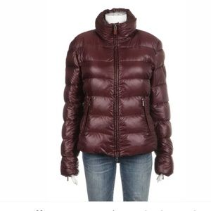 ADD Maroon Red Puffer down jacket size 10 L